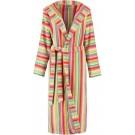 Cawö dames badjas badstof met capuchon multicolor maat 46