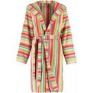 Cawö korte dames badjas badstof met capuchon multicolor maat 38