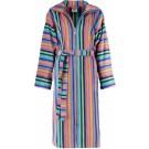 Cawö korte dames badjas velours met rits multicolor maat 46