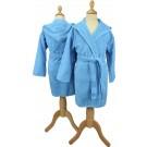 ARTG Boyzz&Girlzz® Kinder Badjas met Capuchon - Aquablauw (Aqua Blue) - Maat 140/152