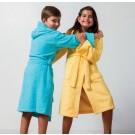 Kinderbadjas met Capuchon Uni Pure 12 Jaar Geel col 1118